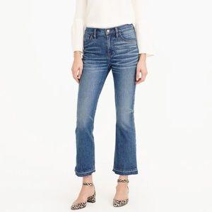J. Crew High-waist Billie Demi-Boot Crop Jeans